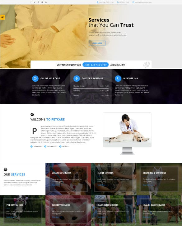 animal petcare responsive wordpress blog theme