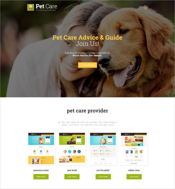 animal pet care blog theme