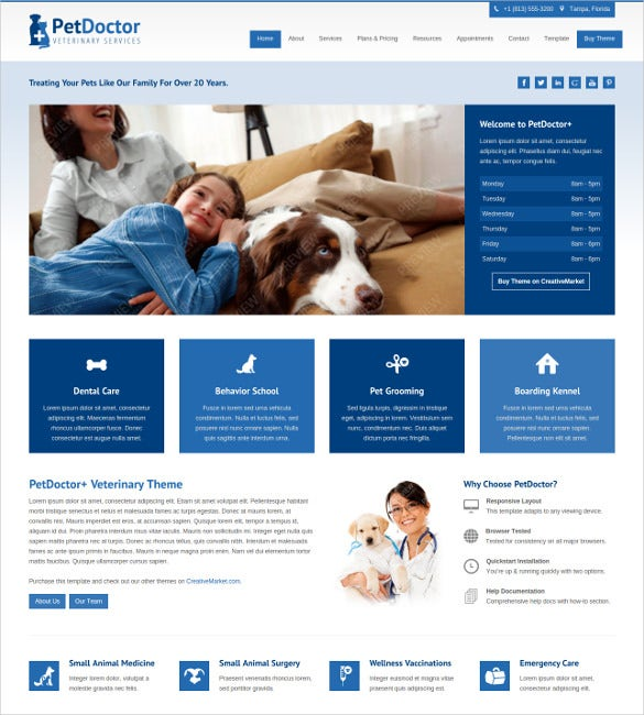 animal pet doctor veterinary joomla blog theme