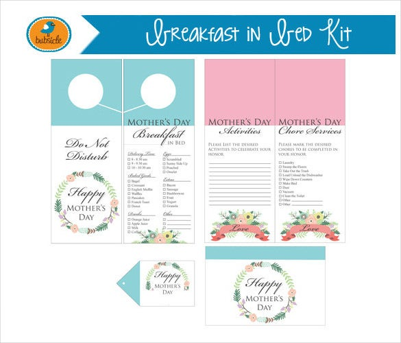 digital printable breakfast menu template sample download