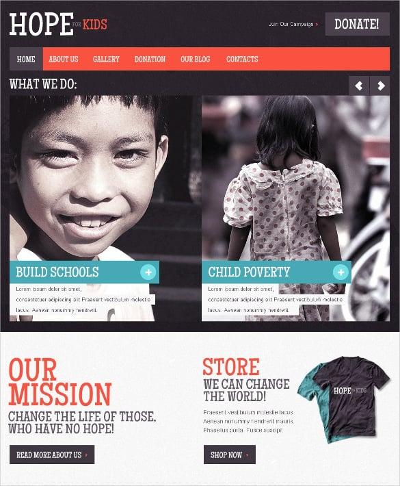 child charity non profit joomla template 68