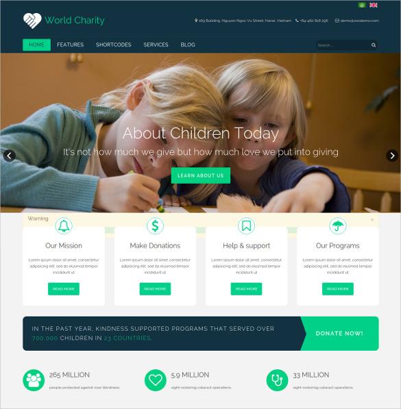charity responsive non profit joomla template 48
