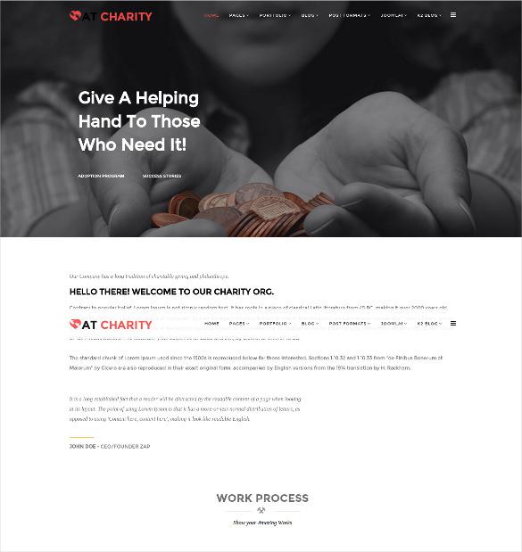 donation charity non profit joomla template 19