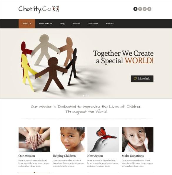 child charity non profit joomla template 67
