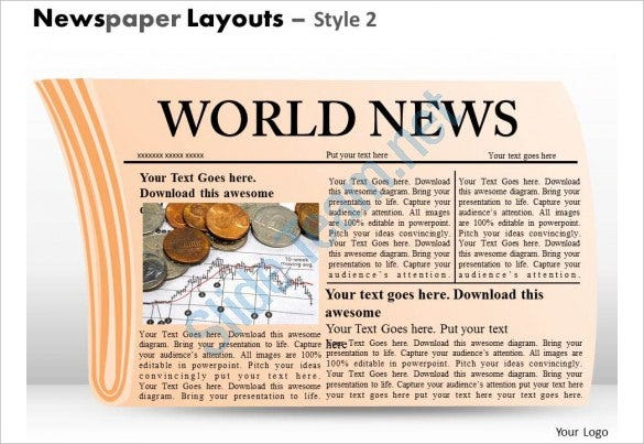 world newspaper layouts style template powerpoint template