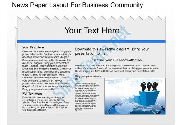 gx news paper layout for business community powerpoint template
