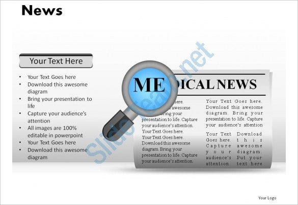 lovely clean news powerpoint presentation slides download