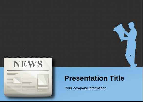 press release newspaper powerpoint template free download