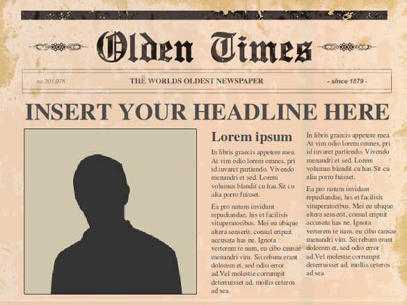 editable old newspaper powerpoint template free download