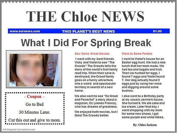 powerpoint newspaper finished template printable download