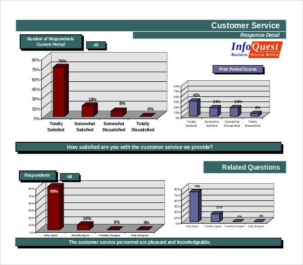 Example Customer Satisfaction Survey Report PDF Template