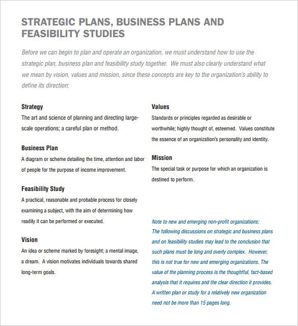 Strategic plan template free business marketing strategy report.