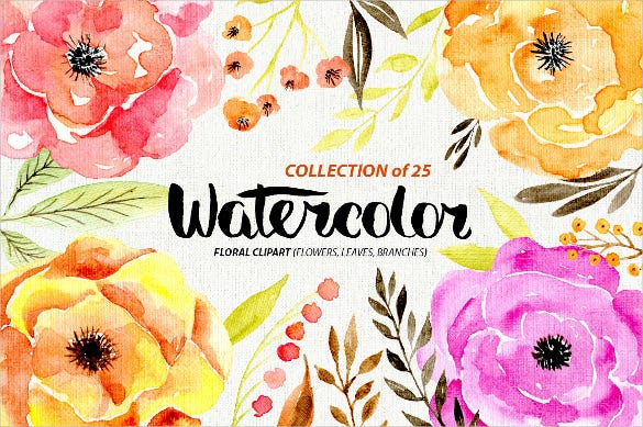 watercolor flowers texture download