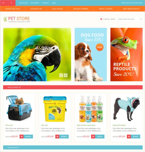 animal pet shop responsive magento theme 179