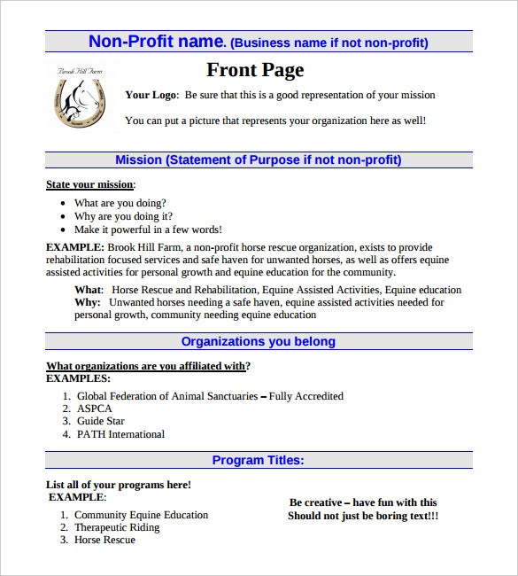 Non profit business plan selowithjo 21 non profit business plan templates pdf doc free premium wajeb Images