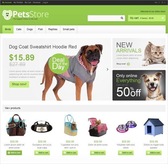 creative pets store magento theme 179