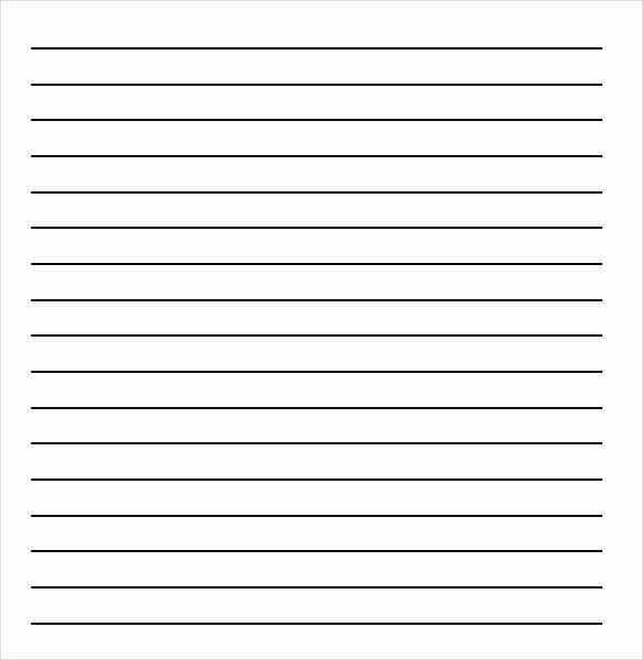 16 Word Lined paper Templates Free Download – Lined Notebook Paper Template