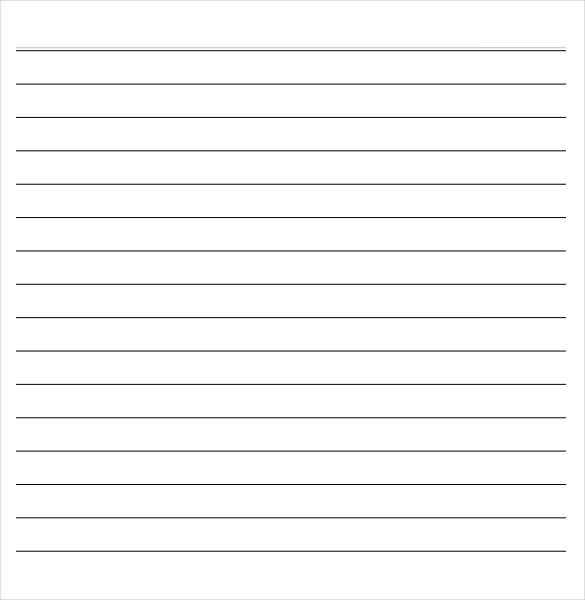 notebook paper word template