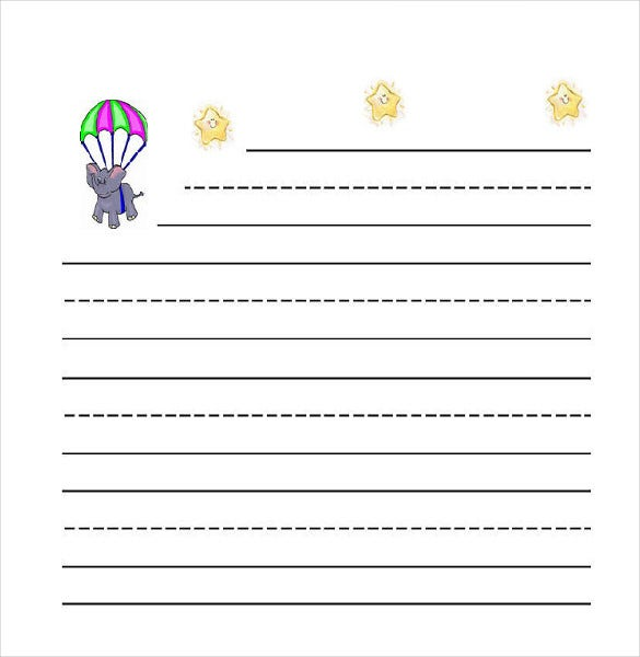 Lined Paper Template Kids Lined PaperFree Printable Kindergarten – Lined Paper Template Kids
