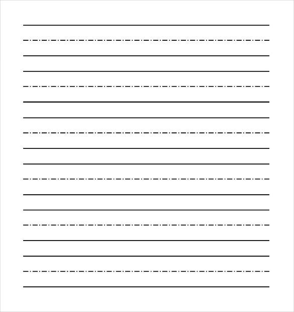 Dotted writing paper