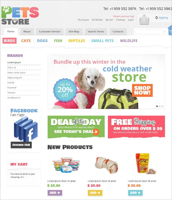 animal pet shop magento theme 179