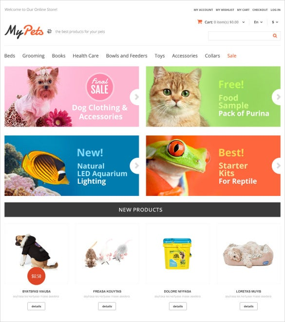 animal pet responsive store magento theme 179