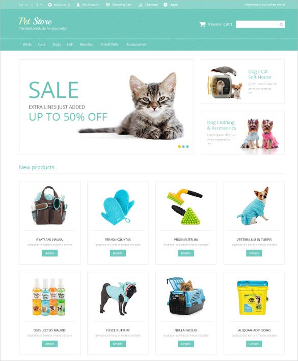 animal pet supplies magento theme 179