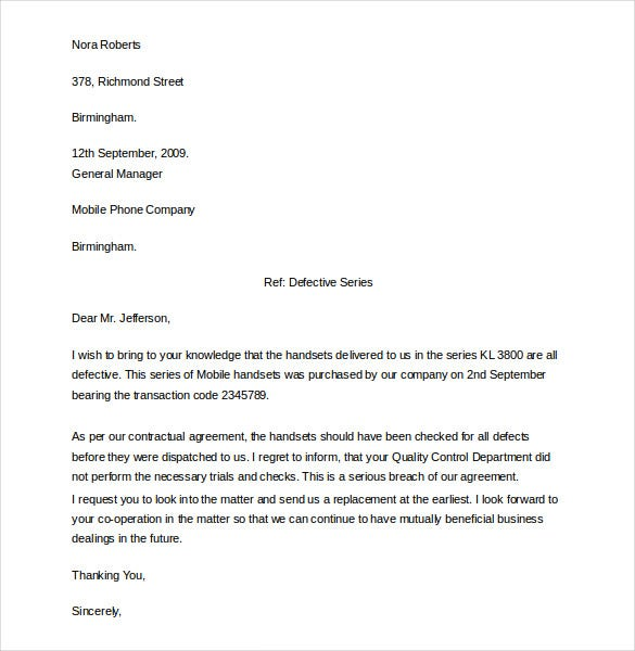 12+ Formal Complaint Letter Templates – Free Sample, Example