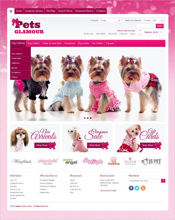 animal pretty pet shop magento theme 1791