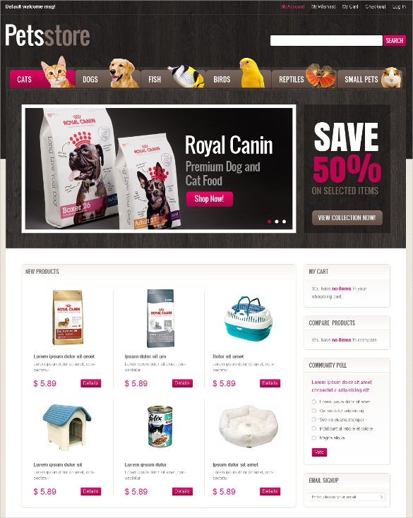 animal pet shop magento template 179