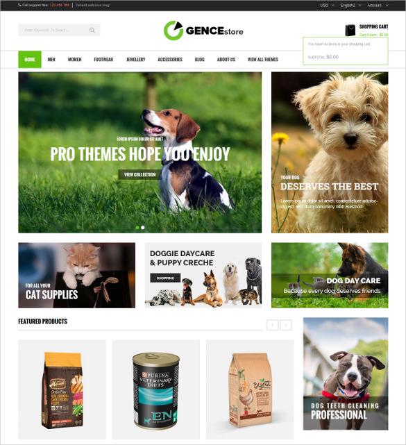 animal pet multi store responsive magento theme 84