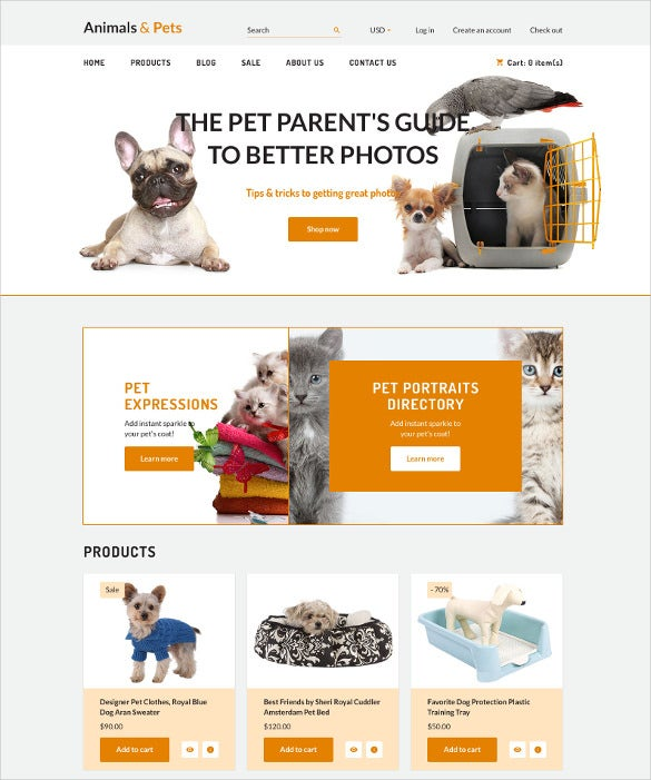 animal pet shopify html5 theme