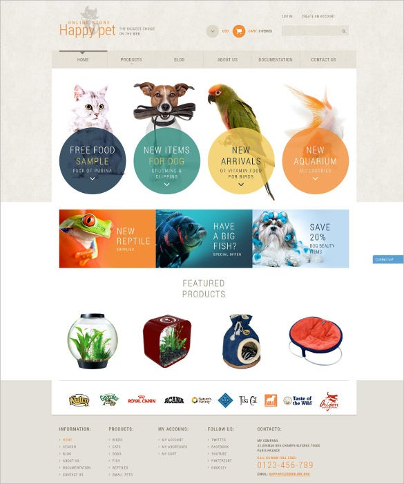 animal pet html5 shopify theme