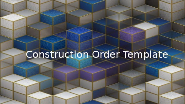 construction order template1