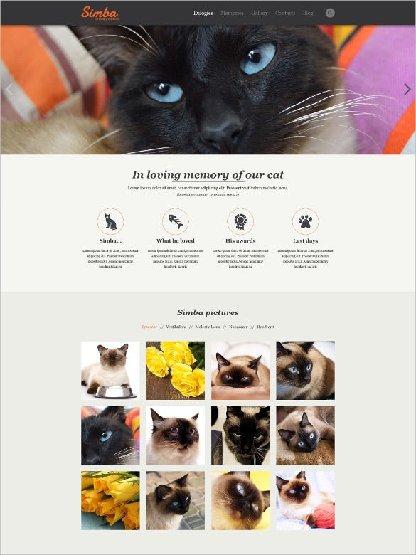 animal pet responsive html5 website template
