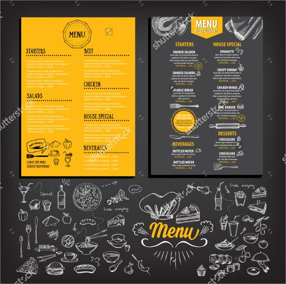 High Quality Breakfast Menu Template Sample Download On Breakfast Menu Template