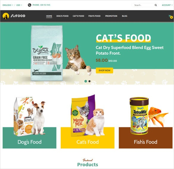 animal pet fod multipurpose responsive magento theme 84