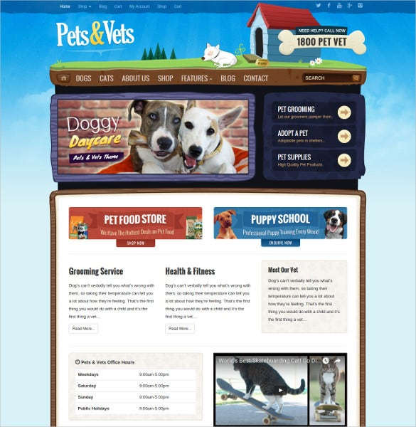animal pet wordpress woocommerce html5 theme