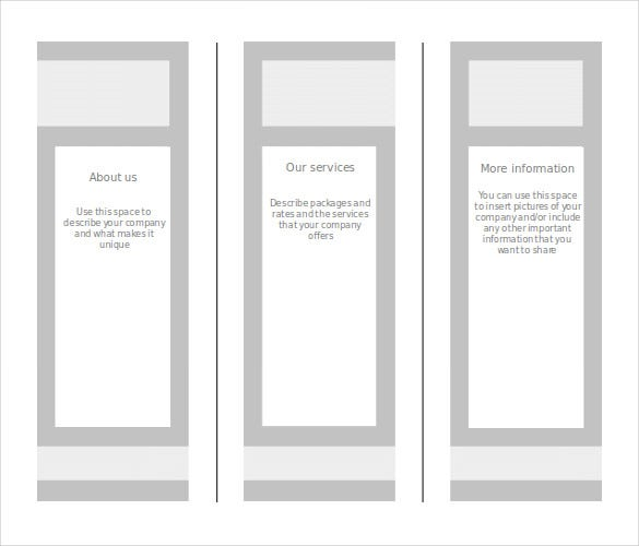 High Quality Printable Blank Brochure Template Free Word