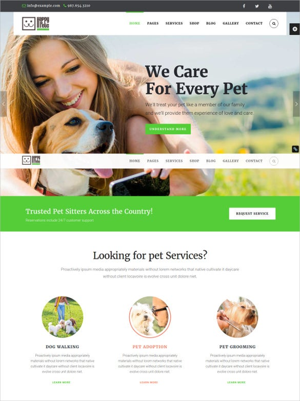 animal pet shop services wordpress html5 theme1