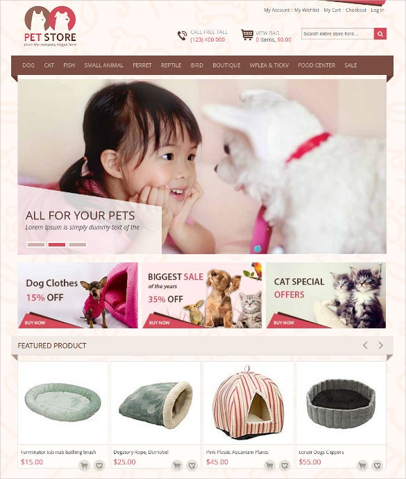 premium animal pet store magento theme 79