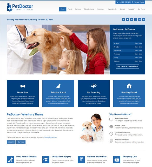 animal pet doctor veterinary joomla html5 theme