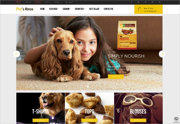 animal pet prestashop html5 theme