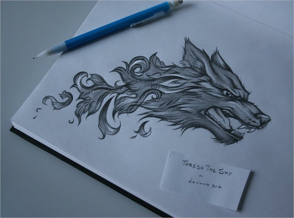 baroque wolf drawing download