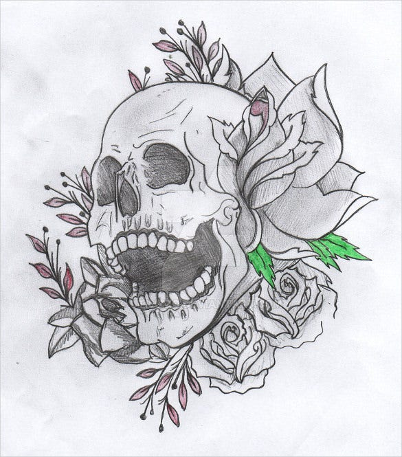 skull tatoo drawing download
