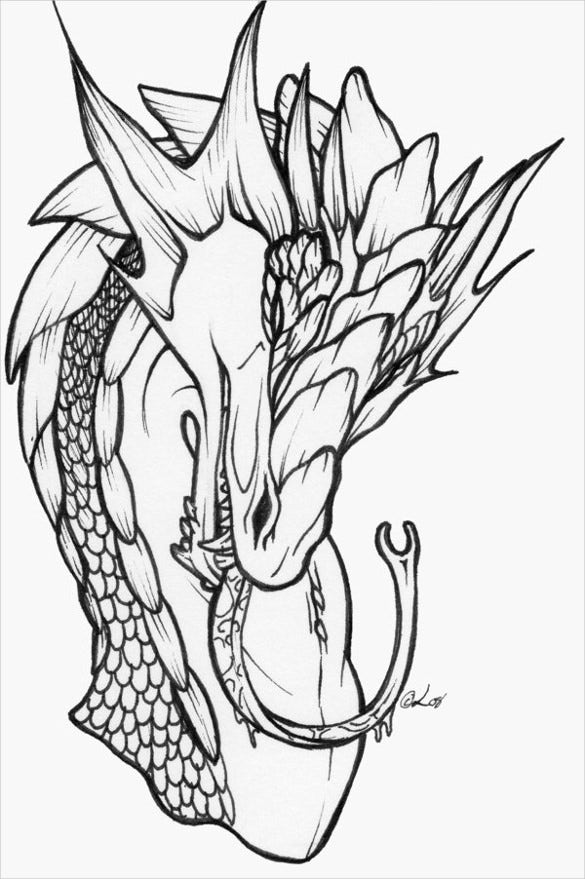 dragon ink tatoo drawing download