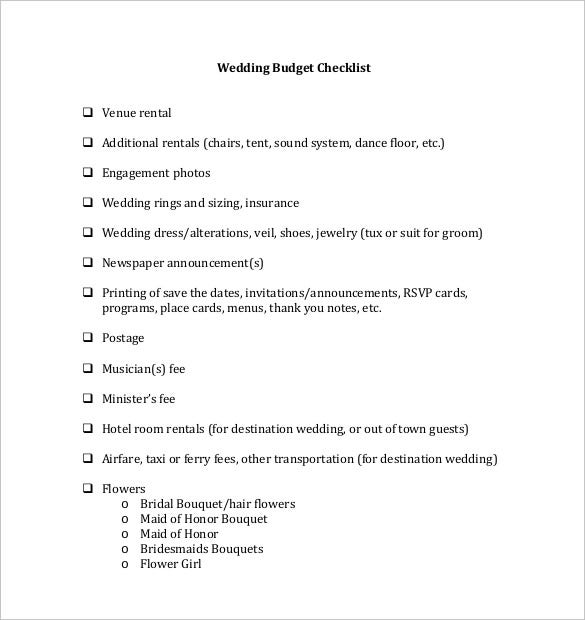 wedding budget template pdf format free download