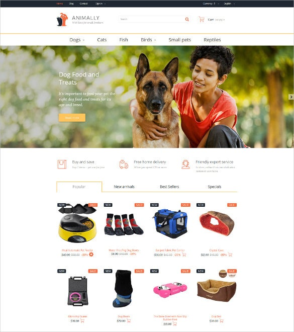 animal pet prestashop bootstrap theme