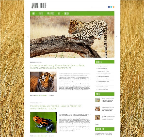 animal pet wild life responsive wordpress bootstrap theme