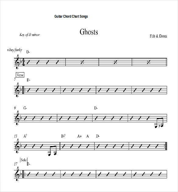 15 word guitar chord chart templates free download free for Song structure template